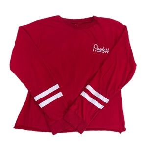 On Fire Red Flawless Long Sleeve Tee, Size XL